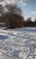 Schnee Schaukel